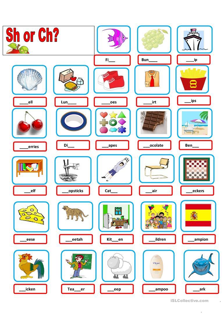 Sh-Ch Worksheet - Free Esl Printable Worksheets Madeteachers | Sh Worksheets Free Printable