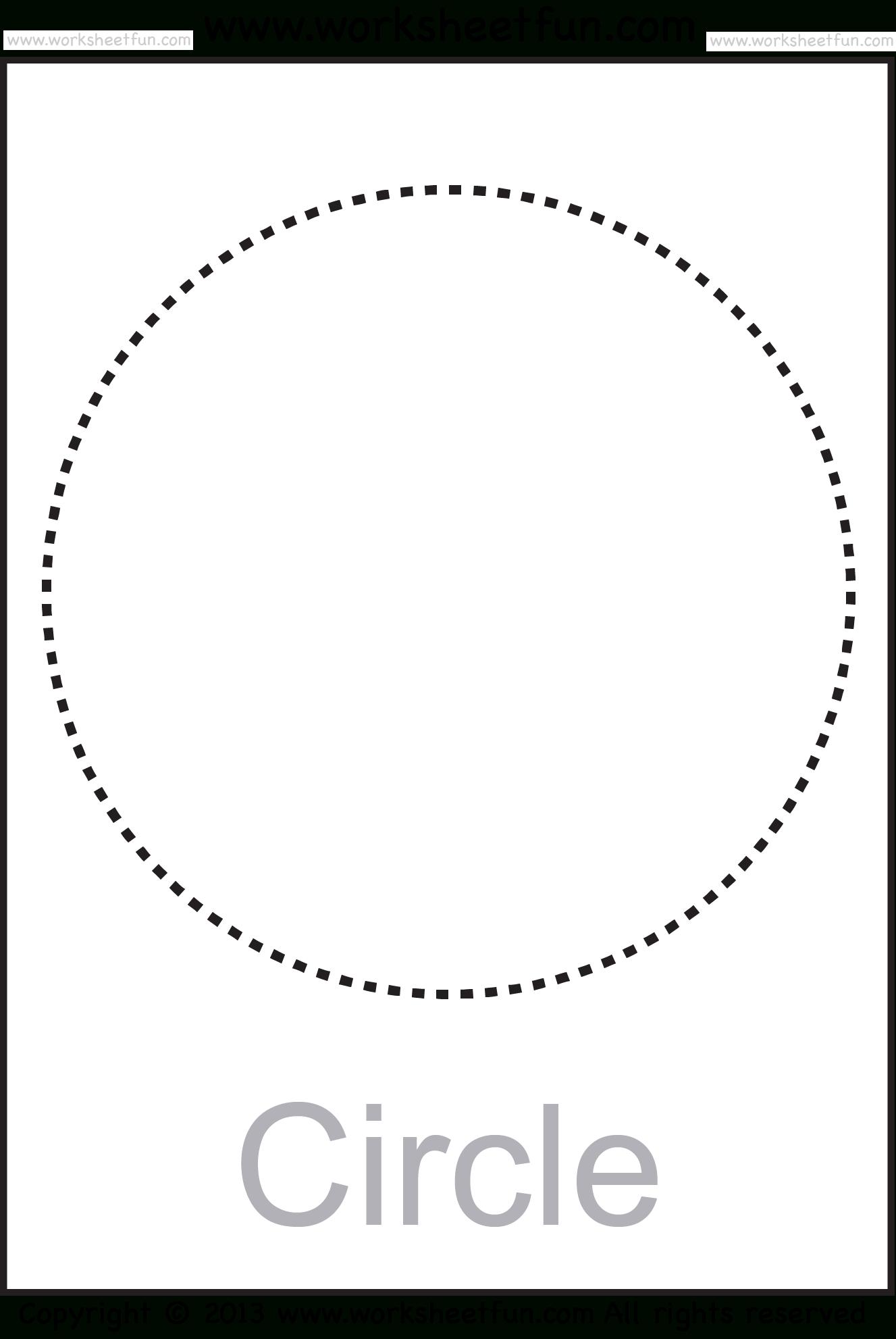 Shapes – Circle, Triangle, Square, Rectangle, Rhombus, Oval – Six | Circle Printable Worksheets