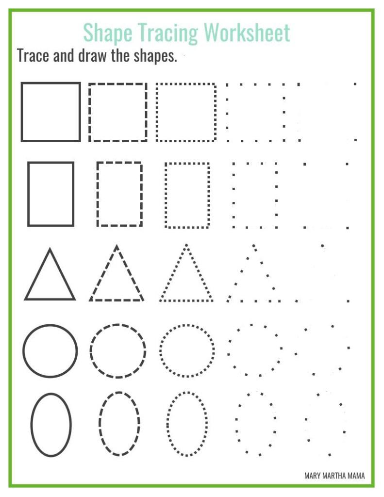 Shapes Worksheets For Preschool [Free Printables] – Mary Martha Mama | Printable Preschool Worksheets Shapes