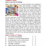Shopping In London Worksheet   Free Esl Printable Worksheets Made | London Worksheets Printable