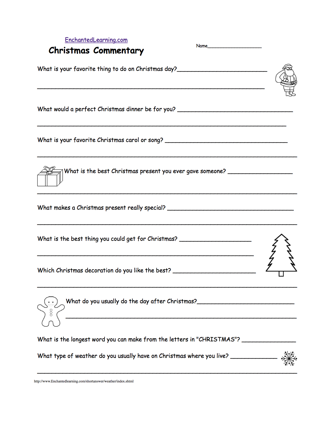 Short Answer Quizzes - Printable - Enchantedlearning | Free Printable Landform Worksheets