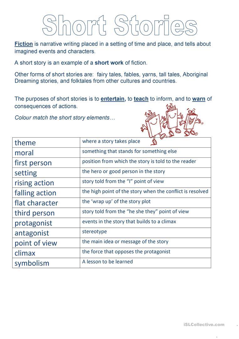 Short Story Elements Worksheet - Free Esl Printable Worksheets Made | Free Printable Story Elements Worksheets