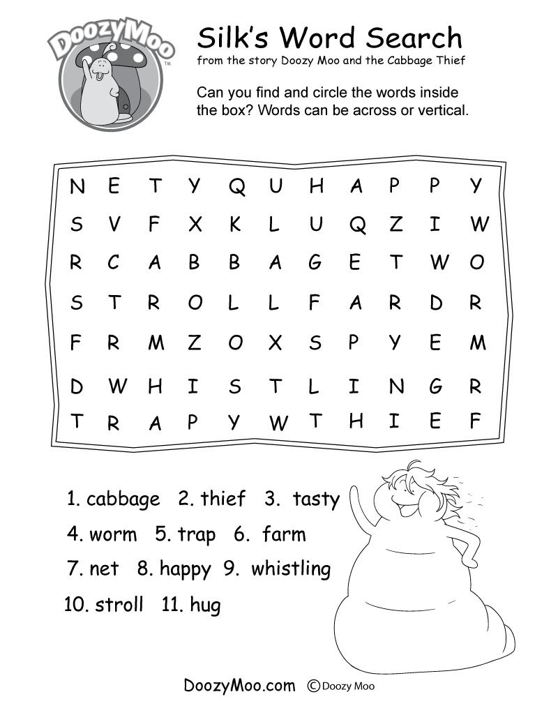 Silk's Word Search Worksheet (Free Printable) - Free Printable Worm | Free Printable Worm Worksheets