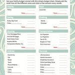 Simple Budget Worksheet Free Printable | For The Home | Budgeting | Simple Budget Worksheet Printable