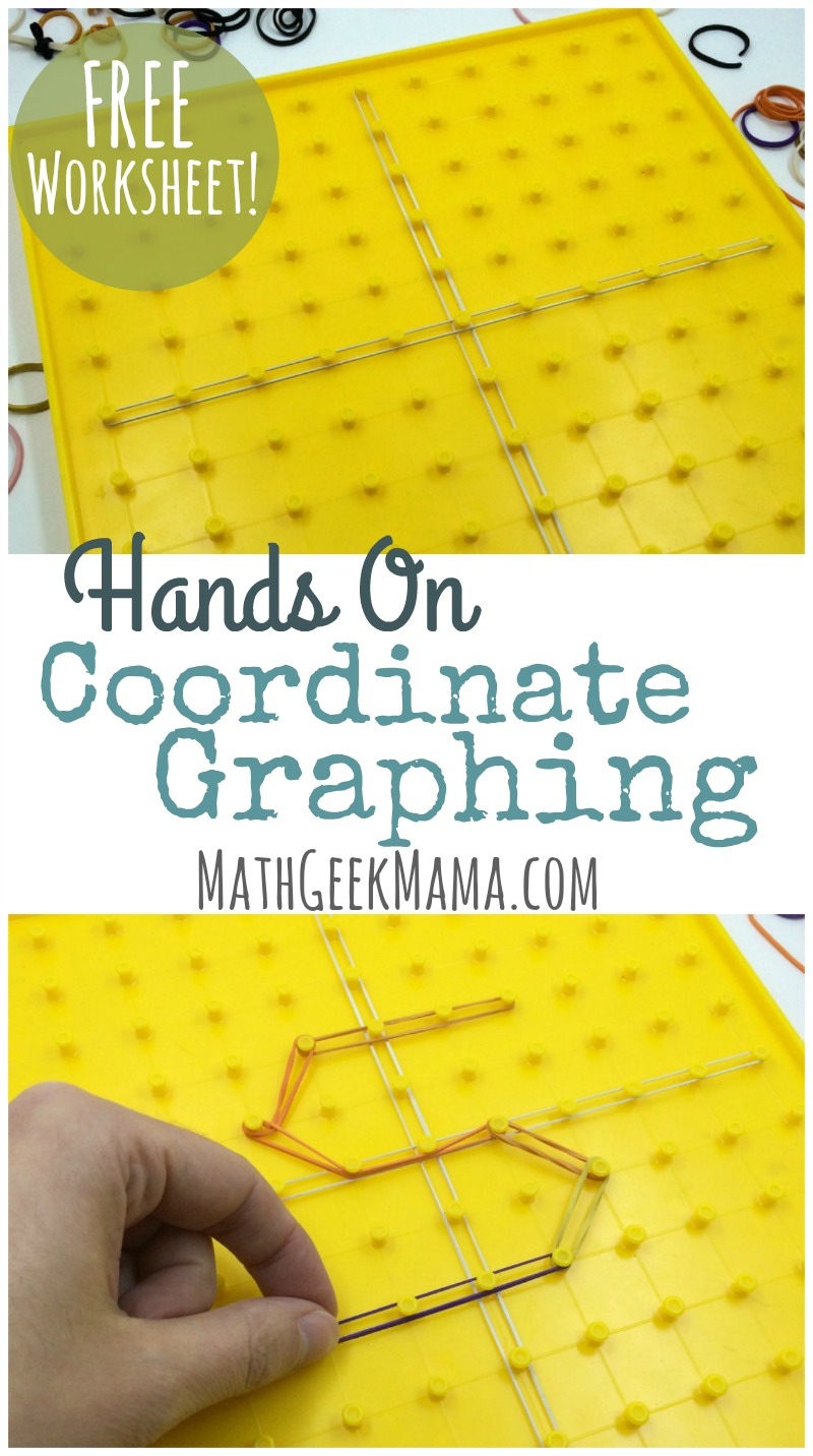 Simple, Hands On Coordinate Graphing Worksheet {Free Printable} | Geoboard Printable Worksheets