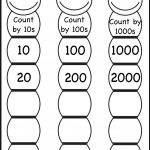 Skip Counting10, 100 And 1000 / Free Printable Worksheets | Skip Counting By 3 Printable Worksheets
