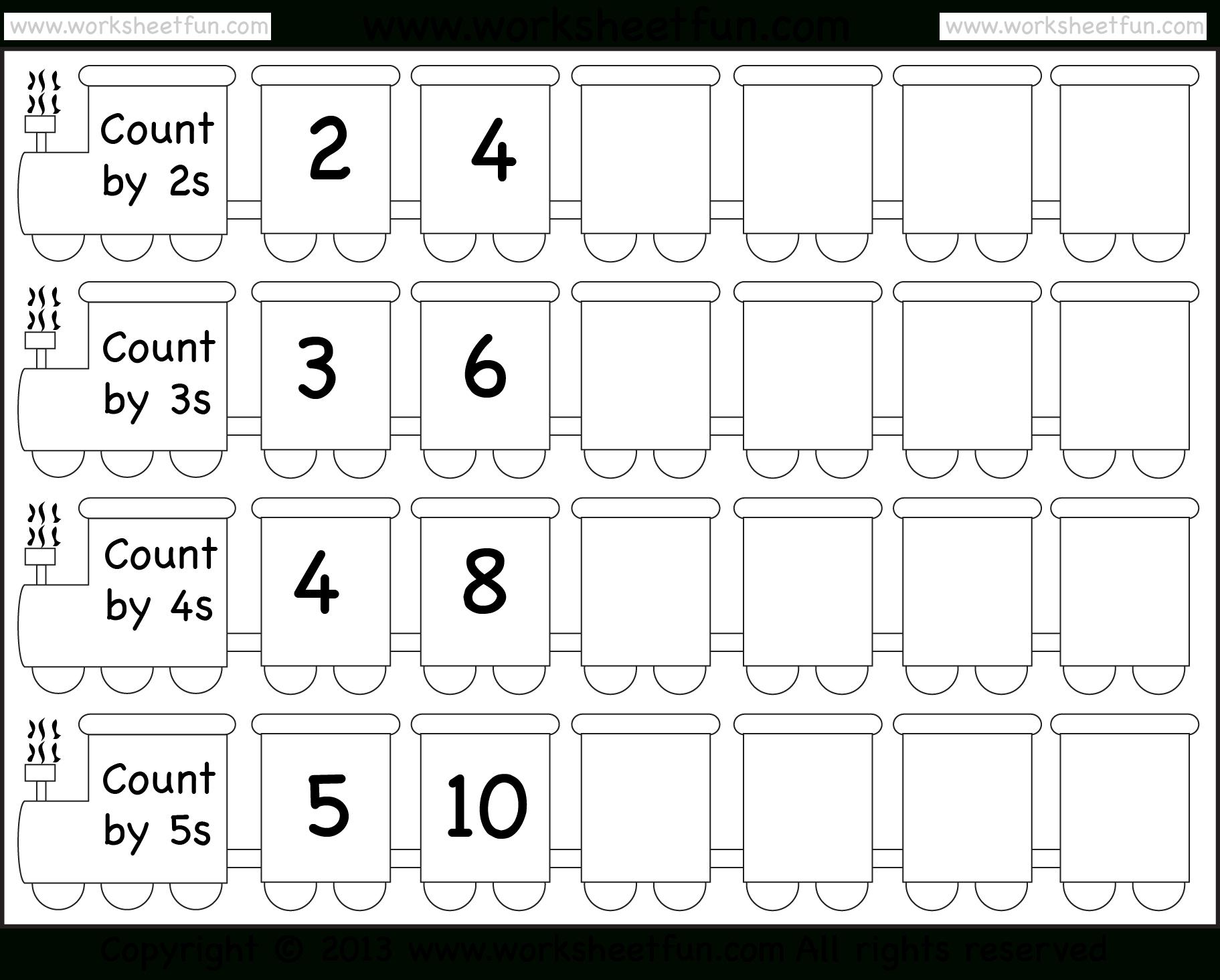 Skip Counting2, 3, 4 And 5 – Worksheet / Free Printable | Skip Counting By 3 Printable Worksheets