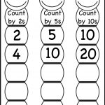 Skip Counting2, 5 And 10 – Worksheet / Free Printable Worksheets | Counting In Twos Worksheet Printable
