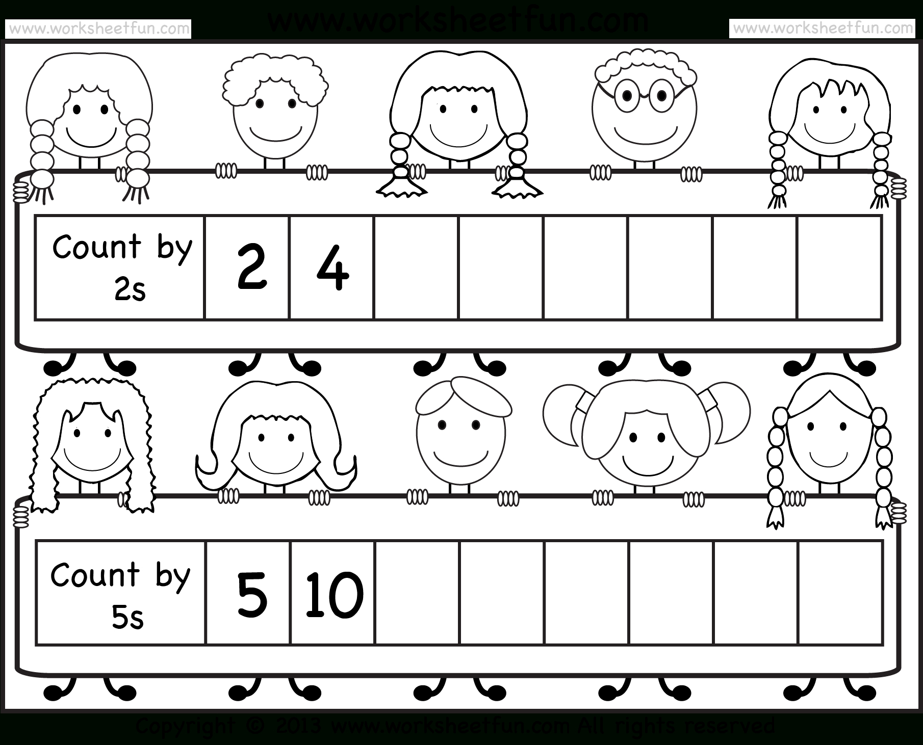 Skip Counting2 And 5 – Worksheet / Free Printable Worksheets - Free | Free Printable Skip Counting Worksheets