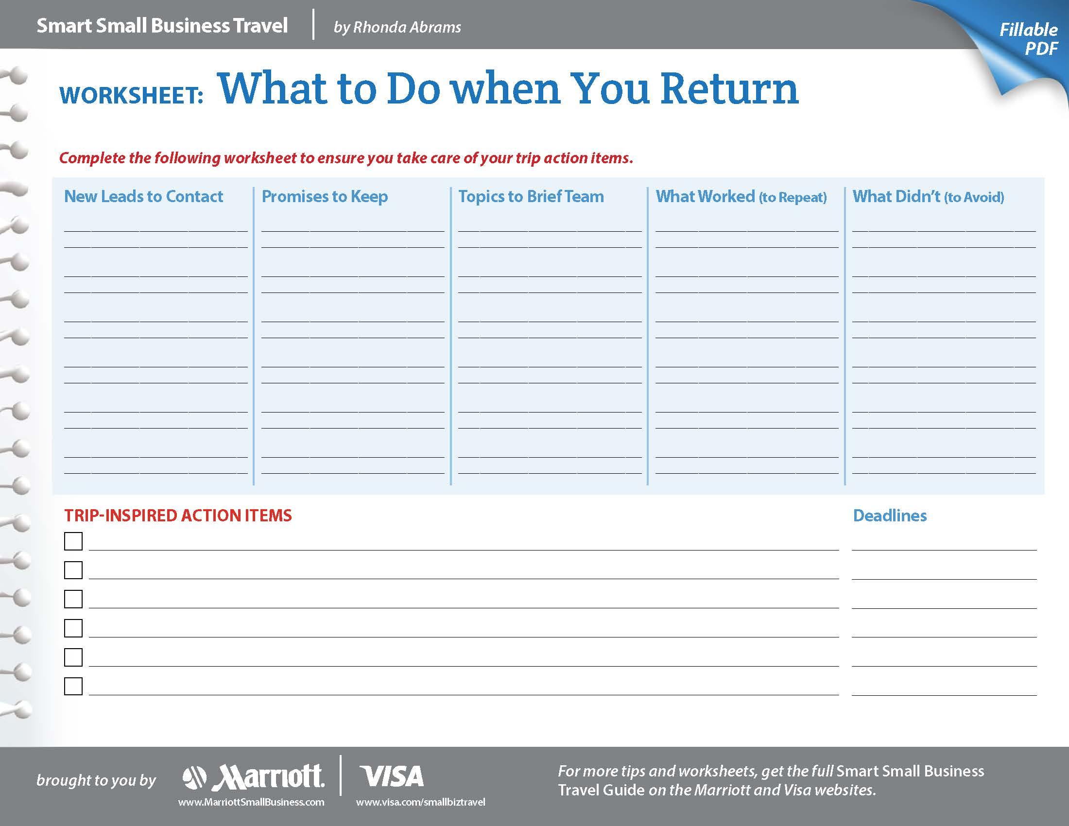 Small Business Worksheets - Koran.sticken.co | Business Worksheets Printables