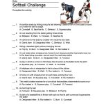 Softball Word Search, Vocabulary, Crossword And More | Softball Worksheets Printable