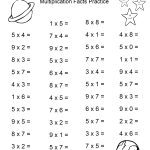 Space Theme   4Th Grade Math Practice Sheets   Multiplication Facts | Printable School Worksheets For 4Th Graders