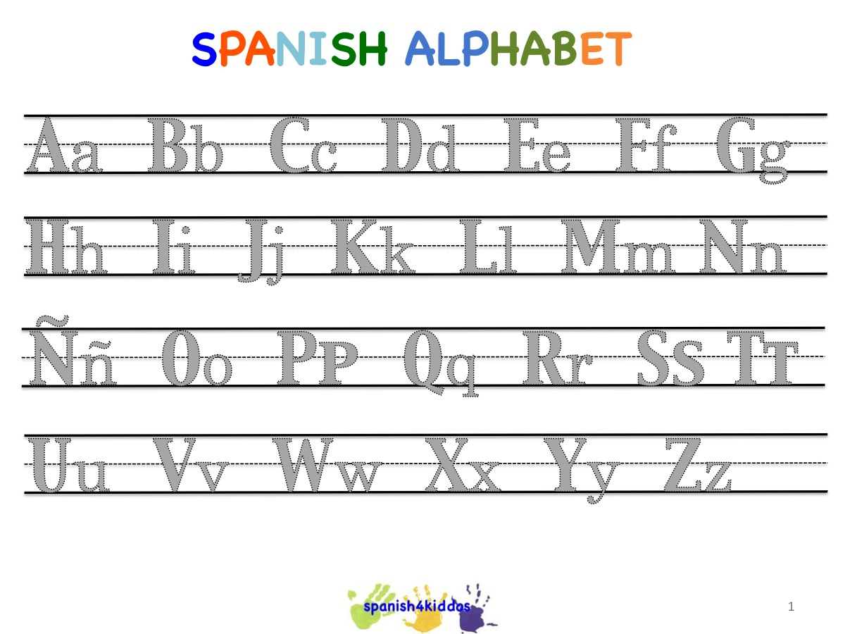 Spanish Alphabet Worksheets | Free Printables Worksheet - Free | Free Printable Spanish Alphabet Worksheets