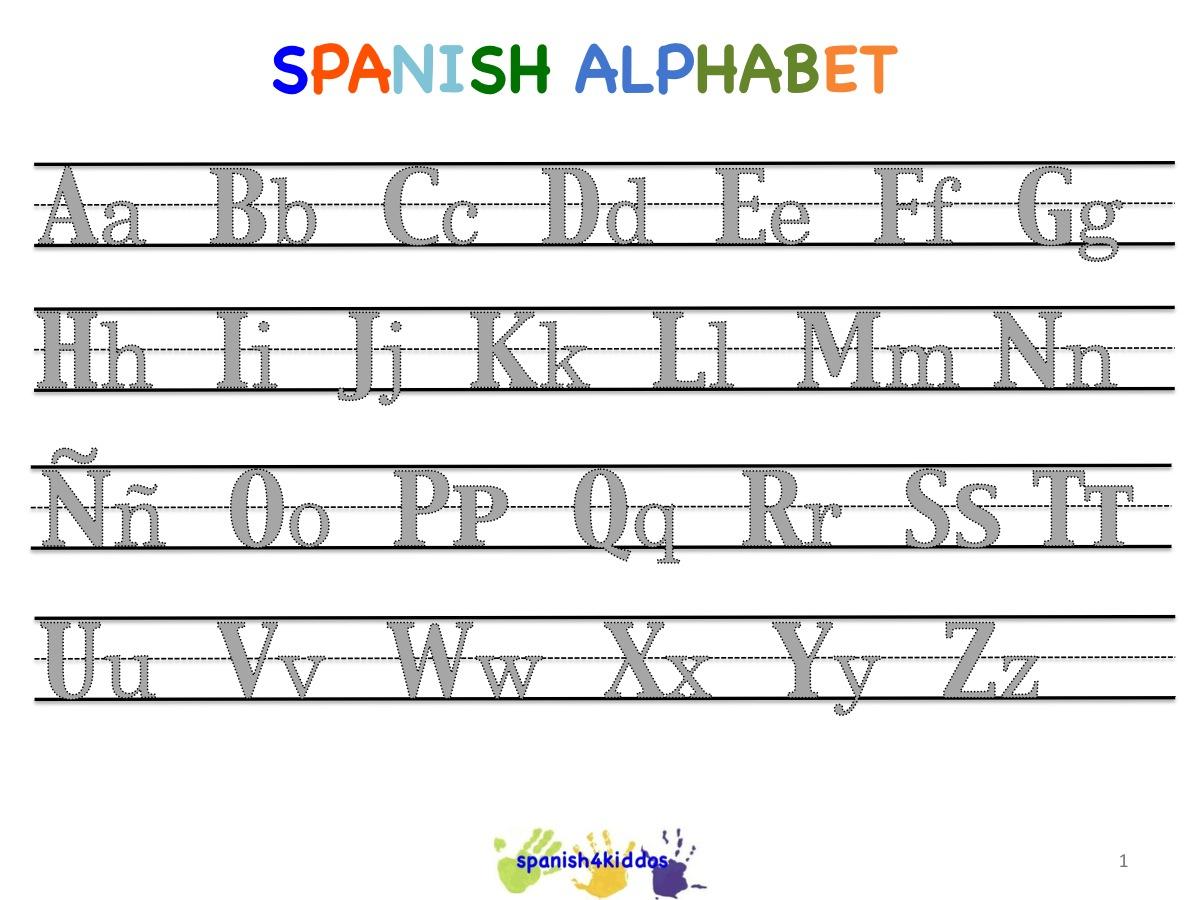 Spanish Alphabet Worksheets | Free Printables Worksheet - Free | Spanish Alphabet Worksheet Printable