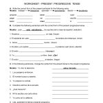 Spanish Worksheets Printables | Present Progressive Worksheet | Spanish Reflexive Verbs Worksheet Printable