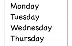 Days Of The Week Printable Worksheets