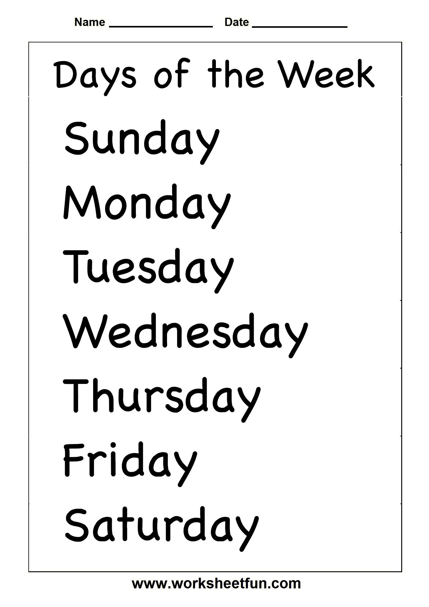 Spelling – Days Of The Week / Free Printable Worksheets – Worksheetfun   Days Of The Week Printable Worksheets