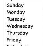 Spelling – Days Of The Week / Free Printable Worksheets – Worksheetfun | Printable French Worksheets Days Of The Week