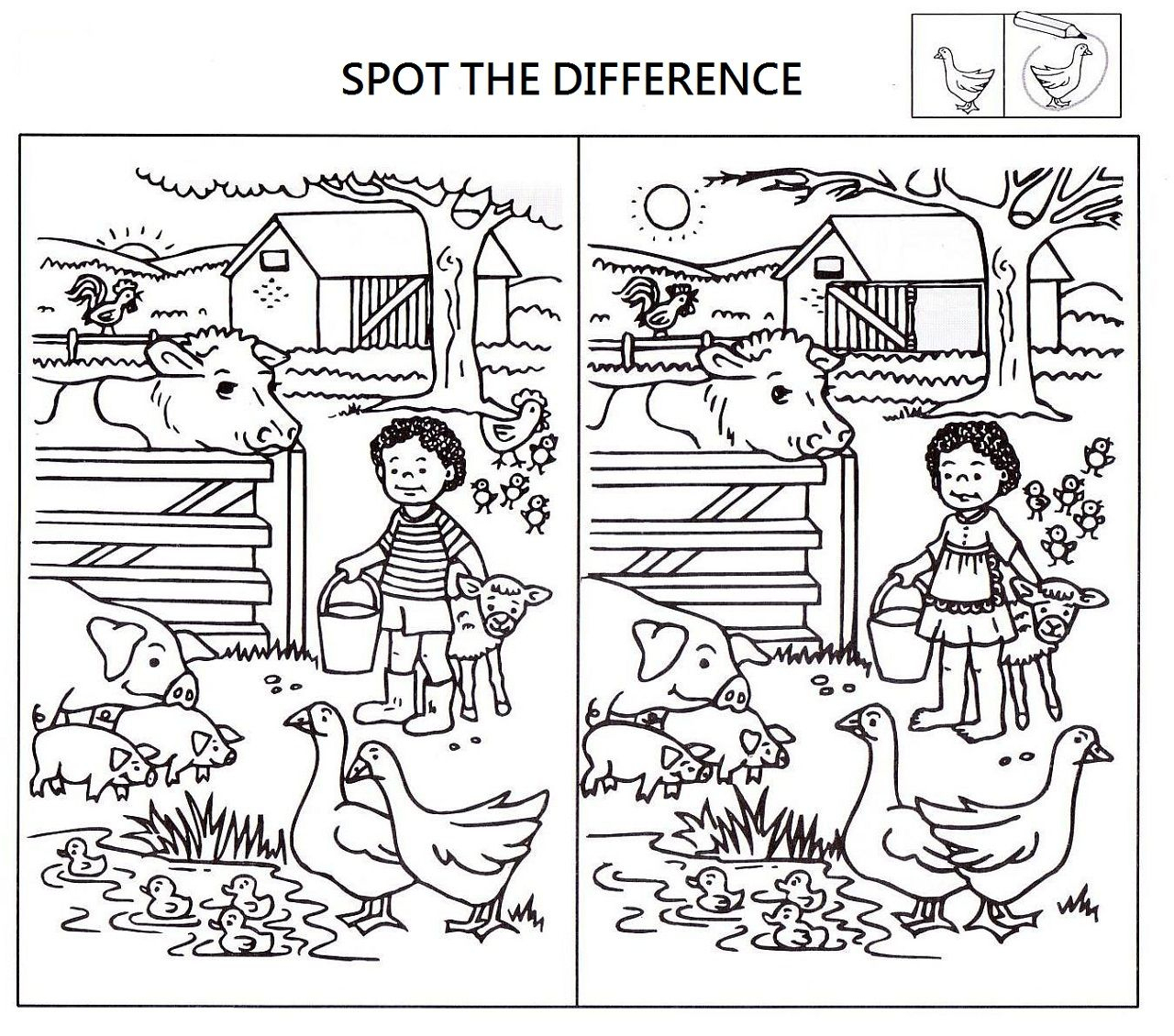 Spot The Difference Worksheets For Kids | Kids Worksheets Printable | Spot The Difference Printable Worksheets For Adults