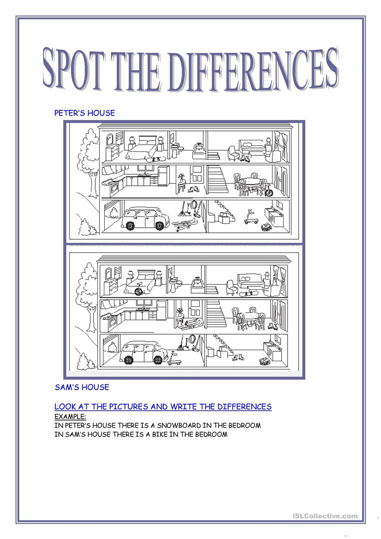Spot The Differences Worksheet - Free Esl Printable Worksheets Made | Free Printable Spot The Difference Worksheets