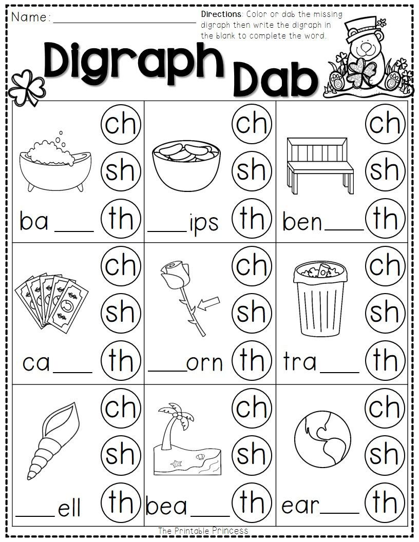 St. Patrick's Day Math And Literacy No Prep Freebie | Reading | Free Printable Consonant Blends Worksheets