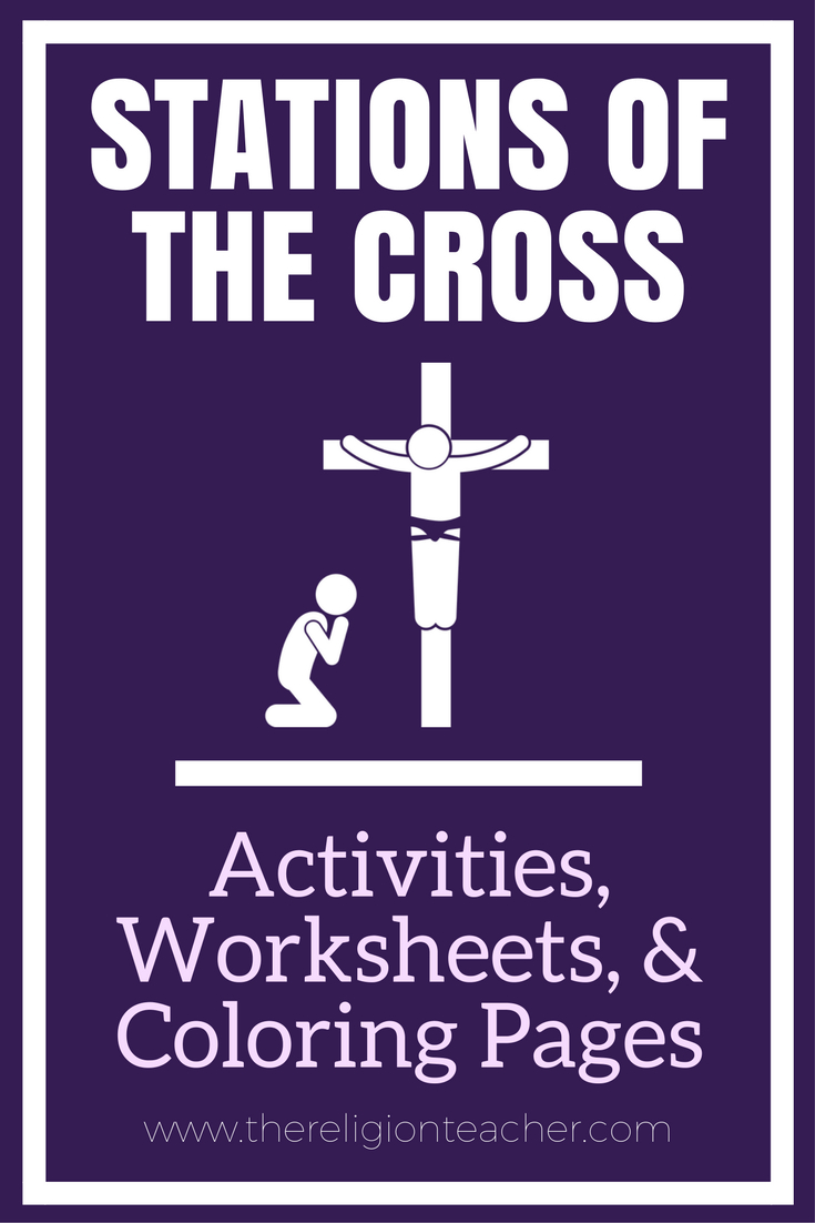 Stations Of The Cross Activities, Worksheets, And Printable Coloring | Stations Of The Cross Printable Worksheets
