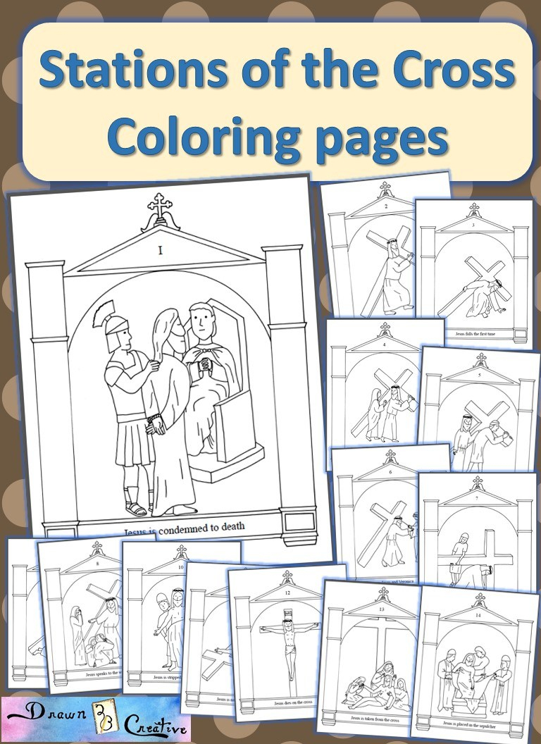 Stations Of The Cross Coloring Pages - Drawn2Bcreative | Stations Of The Cross Printable Worksheets