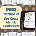 Stations Of The Cross Printable Coloring Book {Free}   Drawn2Bcreative | Stations Of The Cross Printable Worksheets
