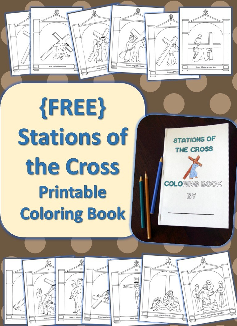 Stations Of The Cross Printable Coloring Book {Free} - Drawn2Bcreative | Stations Of The Cross Printable Worksheets
