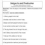 Subject Predicate Worksheets 2Nd Grade   Google Search | Kid Stuff | Free Printable Subject Predicate Worksheets 2Nd Grade