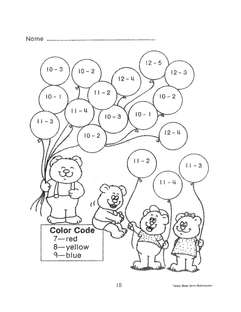 Subtraction Worksheets | Educational Coloring Pages | 2Nd Grade | Free Printable Math Coloring Worksheets For 2Nd Grade