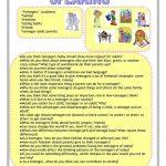 Teenagers Worksheet   Free Esl Printable Worksheets Madeteachers   Printable Worksheets For Teens