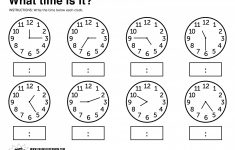Printable Time Worksheets Grade 3