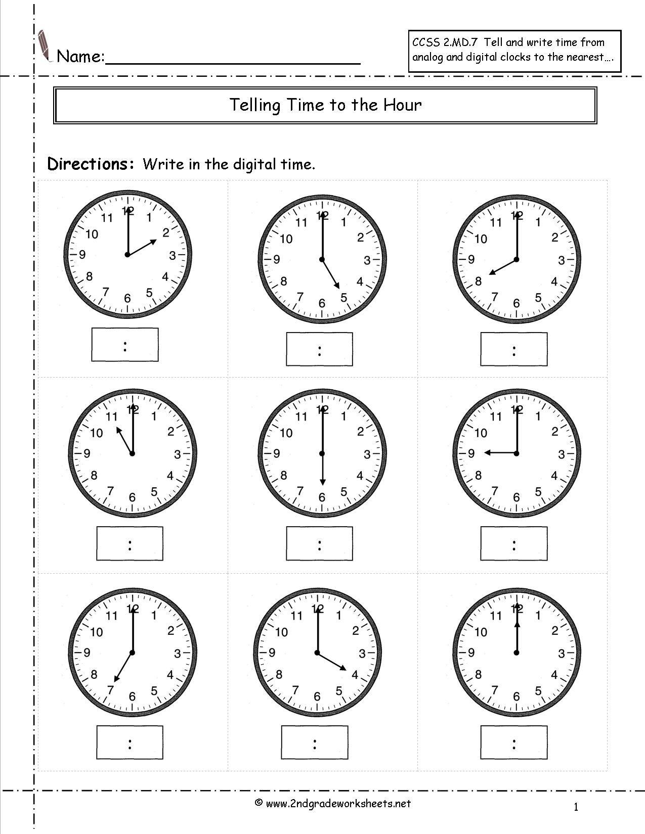 Telling Time Worksheets Half Hour | זמן | Clock Worksheets | Printable Telling Time Worksheets 1St Grade
