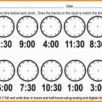 Telling Time Worksheets Printable – Worksheet Template   Free | Printable Telling Time Worksheets 1St Grade