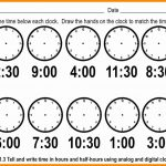Telling Time Worksheets Printable – Worksheet Template   Free | Telling Time Printable Worksheets First Grade