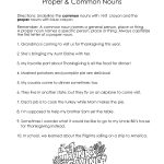 Thanksgiving Common Vs. Proper Nouns Worksheet | Squarehead Teachers | Free Printable Thanksgiving Worksheets For Middle School