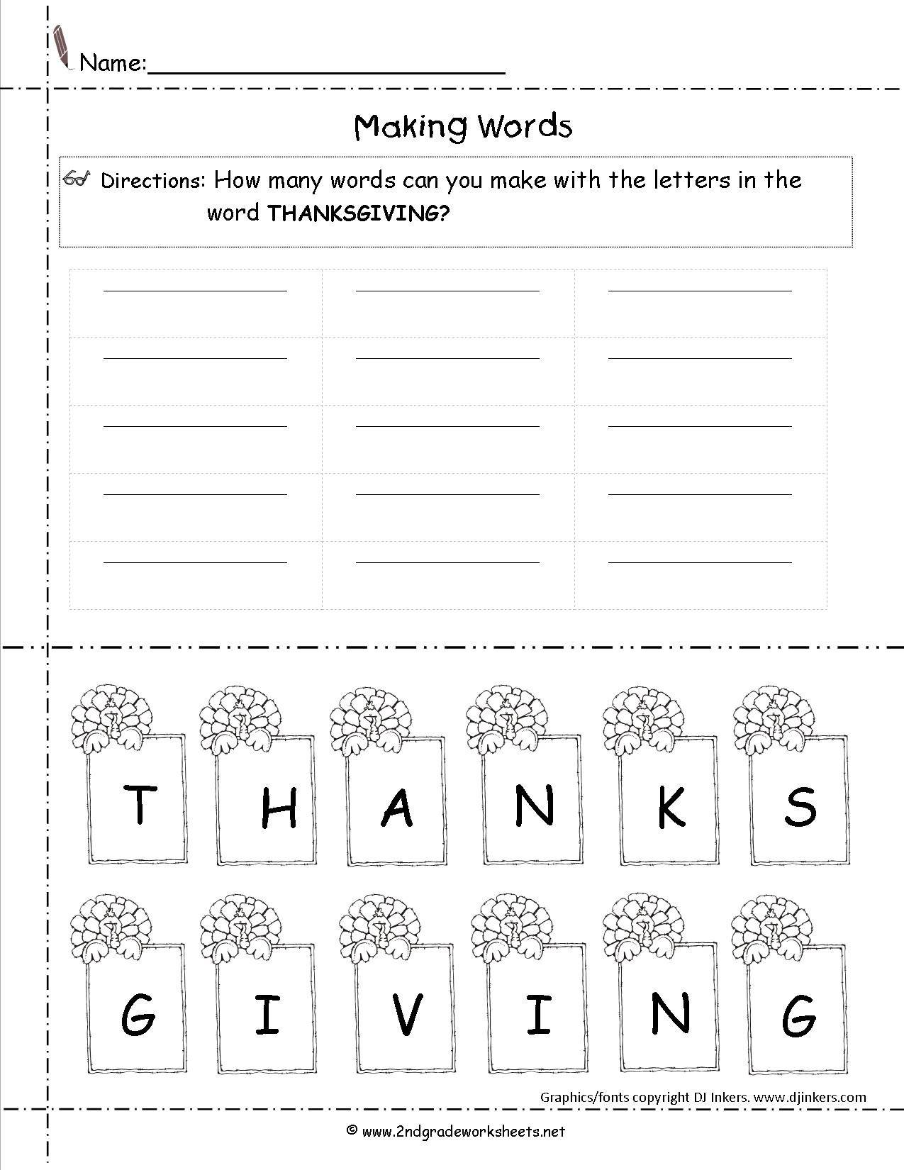 Thanksgiving Printouts And Worksheets | Math Worksheets Thanksgiving Free Printable