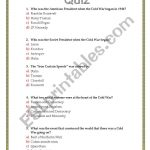 The Cold War Quiz   Esl Worksheetsviviana | Cold War Printable Worksheets
