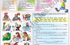 Past Progressive Tense Worksheets Printable