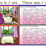 There Is / Are ,there Was / Were Worksheet   Free Esl Printable | There Was There Were Printable Worksheets