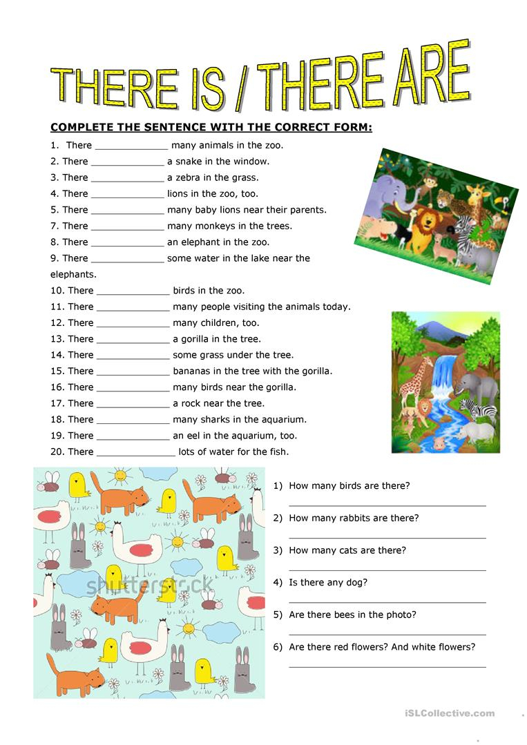There Is There Are Worksheet - Free Esl Printable Worksheets Made | There Was There Were Printable Worksheets