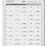 These Fill In The Blank Style Roman Numeral Pattern Worksheets Help   Printable Roman Numerals Worksheets