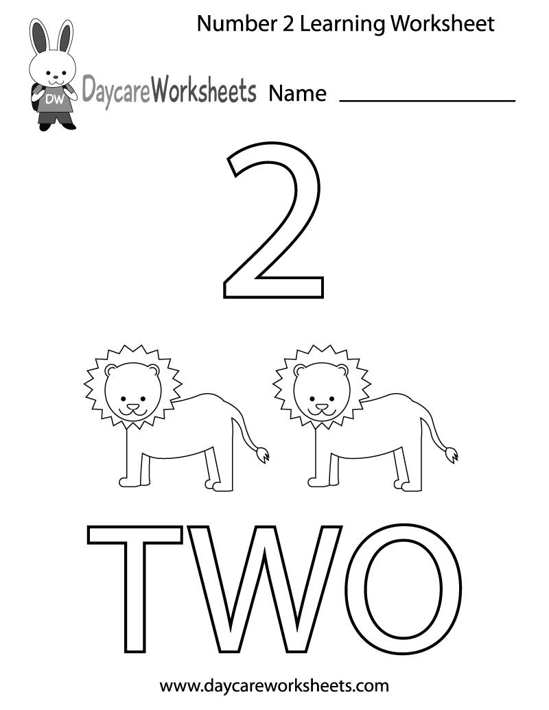 This Free Printable Worksheet Helps Preschoolers Learn The Number | Daycare Worksheets Printable