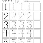 This Is A Numbers Tracing Worksheet For Preschoolers Or | Printable Number Tracing Worksheets