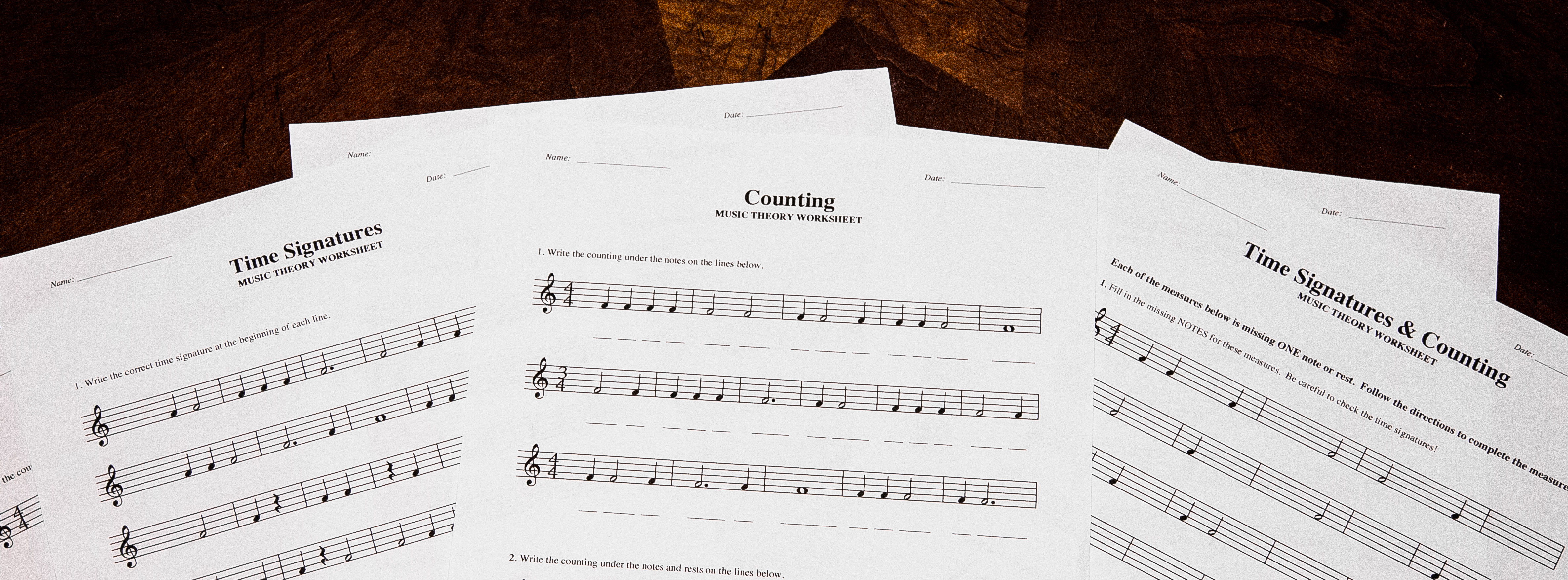 Time Signatures & Counting: Free Printable Theory Worksheets – Lacie | Printable Theory Worksheets