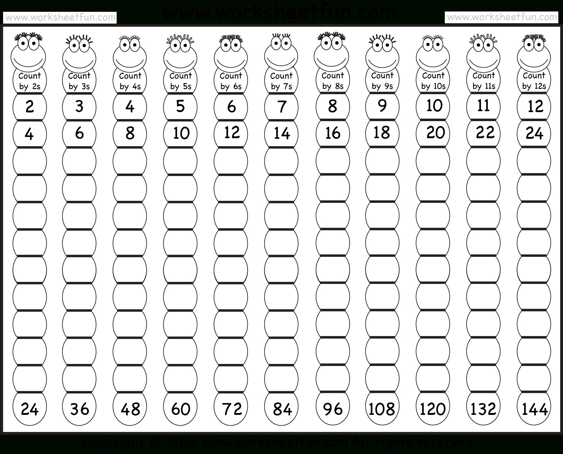 Times Table – 2-12 Worksheets – 1, 2, 3, 4, 5, 6, 7, 8, 9, 10, 11 | Multiplication Tables 1 12 Printable Worksheets