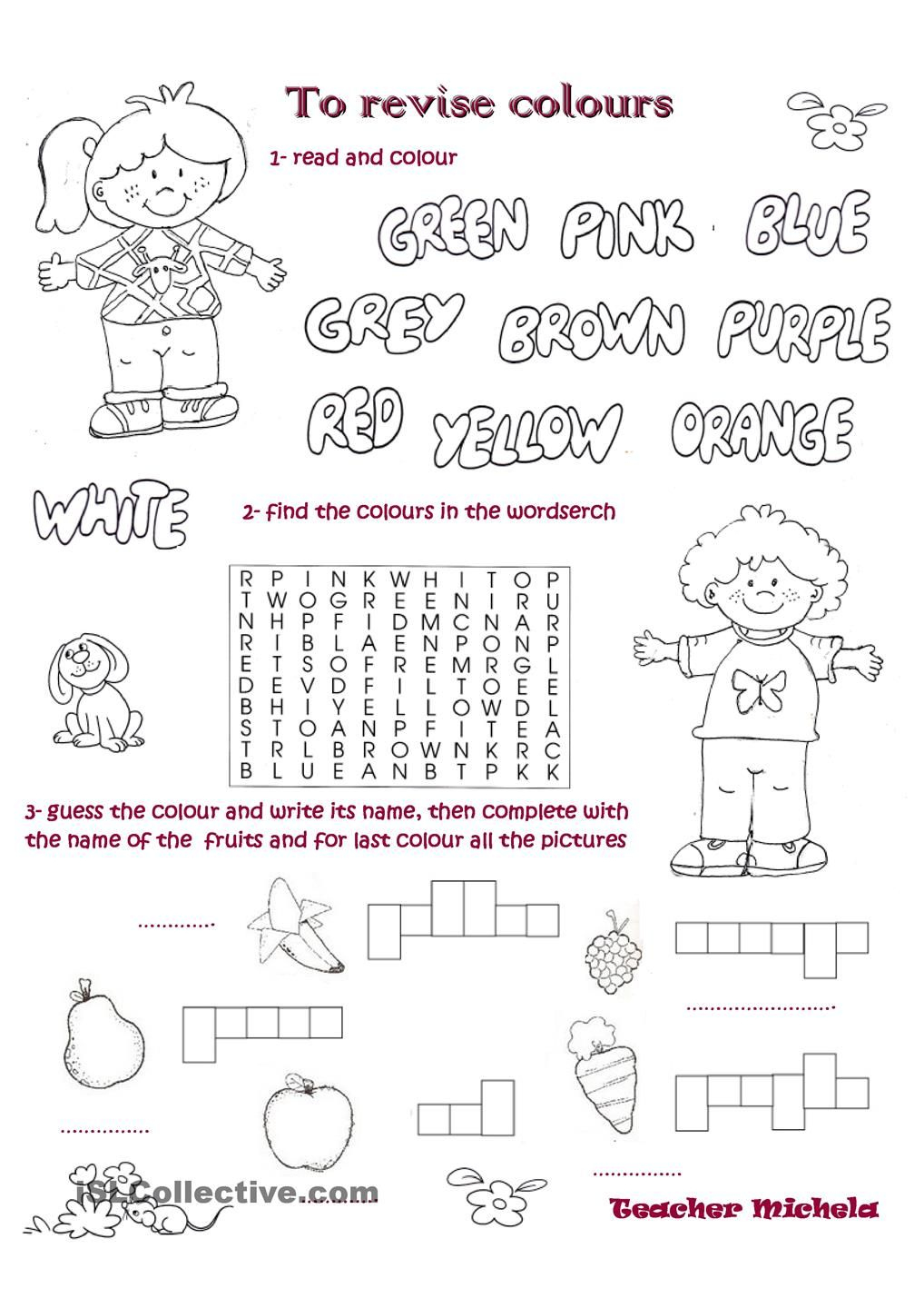 To Revise Colours   Esl Worksheets Of The Day   Teaching English   Colours Wordsearch Printable Worksheets