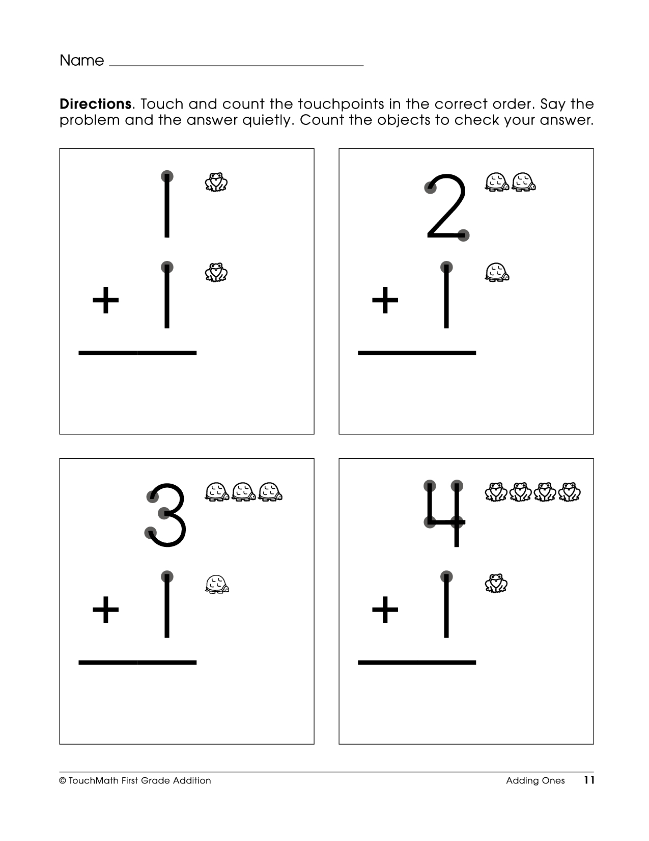 Touch Point Math Worksheet. |. This Is How I Taught Myself To Add | Touch Math Printable Worksheets