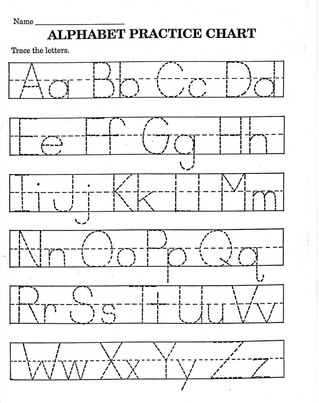 Trace Letter Worksheets Free | Reading And Phonics | Pre K Math | Printable Alphabet Worksheets